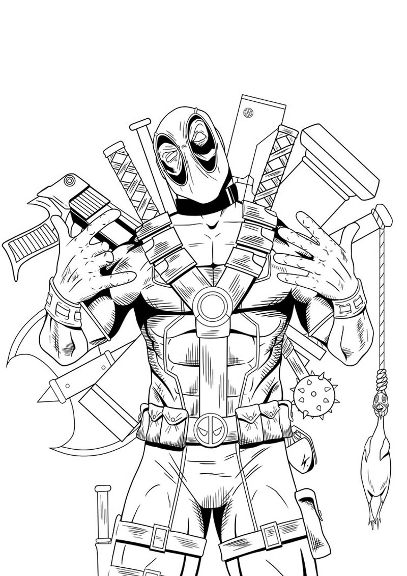 deadpool free free printable deadpool coloring pages for kids free deadpool 1 1