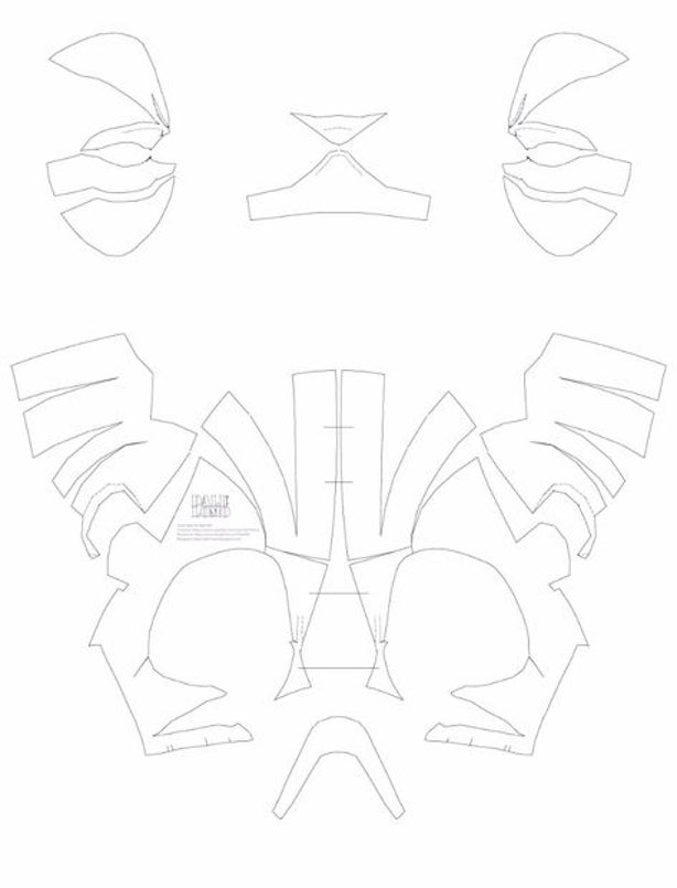 deadpool mask template black panther version 1 a4 letter size pdf template deadpool template mask