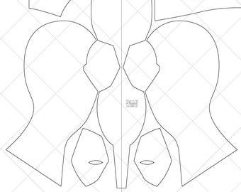 deadpool mask template deadpool foam helmet templates from xiengprod on etsy studio mask deadpool template