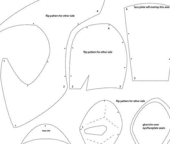 deadpool mask template deadpool papercraftsquare free papercraft download mask deadpool template