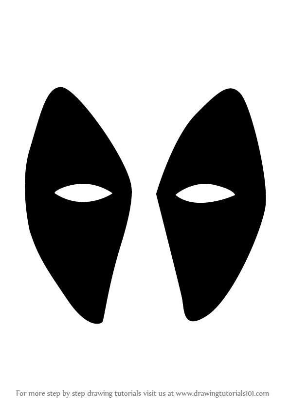 deadpool mask template learn how to draw deadpool mask deadpool step by step template deadpool mask