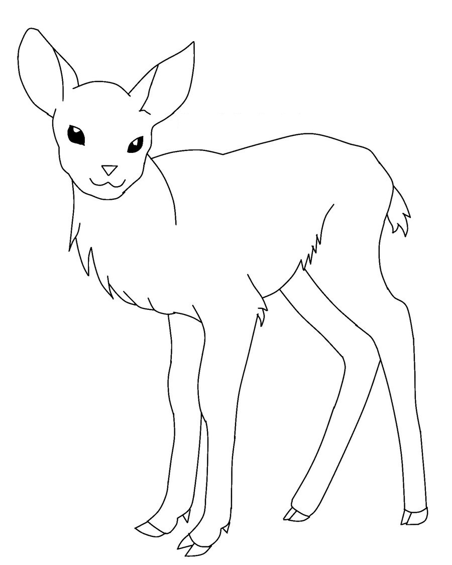 deer coloring page free printable deer coloring pages for kids page coloring deer 1 1