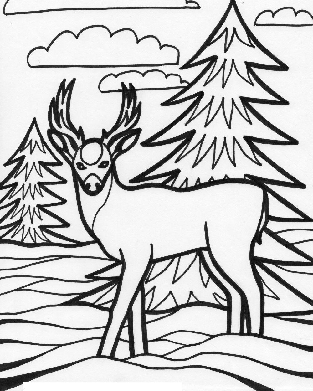 deer coloring page ruminant mammal deer 20 deer coloring pages free printables coloring deer page