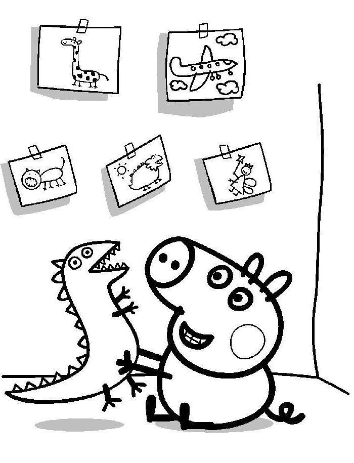 desenho da peppa para colorir colorindo com as lembrancinhas rcbx desenhos para colorir desenho peppa para da colorir