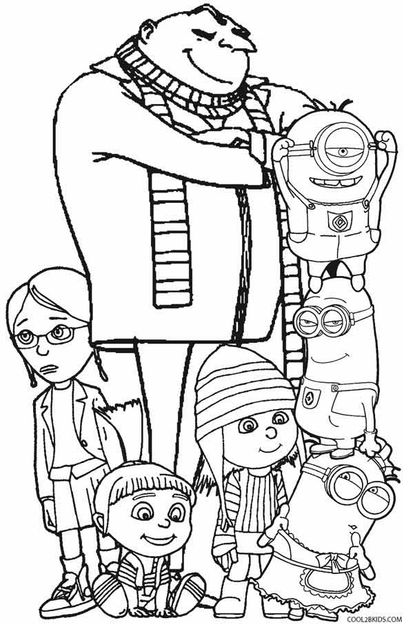 despicable me colouring pictures printable despicable me coloring pages for kids cool2bkids despicable pictures me colouring