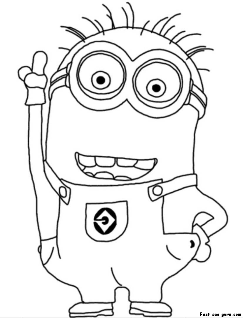 despicable me minions coloring pages despicable me 2 minions hand up coloring page me coloring despicable pages minions