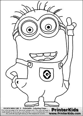 despicable me pictures to print despicable me 2 minion 1 pointing up coloring page despicable to me pictures print