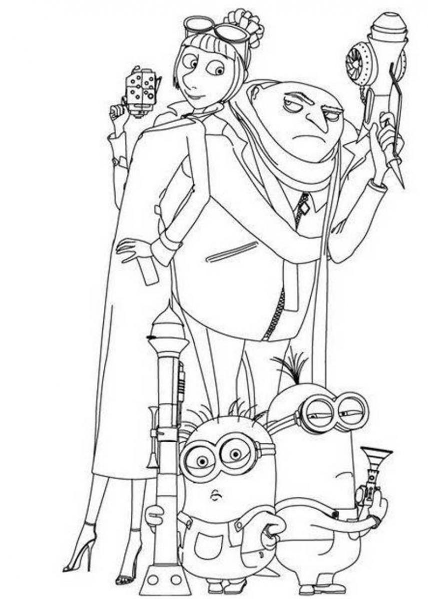 despicable me pictures to print despicable me coloring pages 360coloringpages to pictures me despicable print