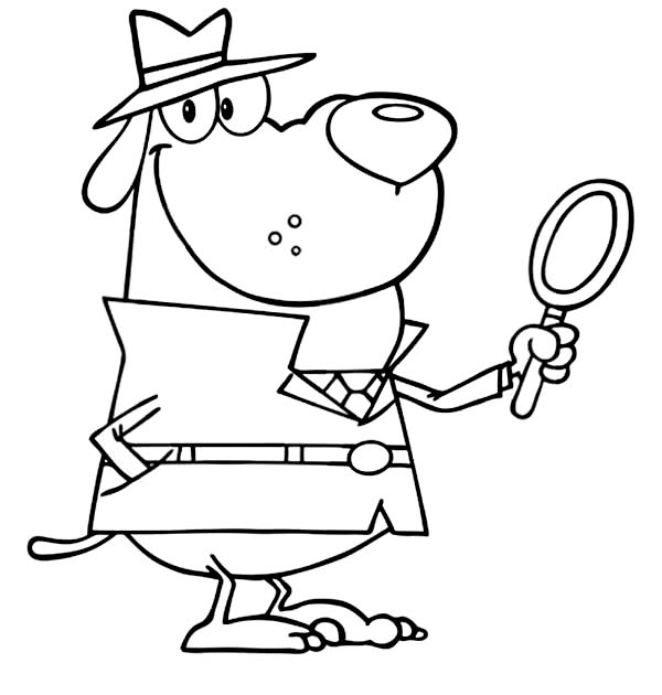 detective coloring pages awesome detective dog coloring page netart detective pages coloring