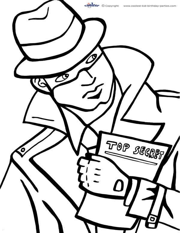detective coloring pages printable spy detective coloring page 2 coolest free coloring detective pages