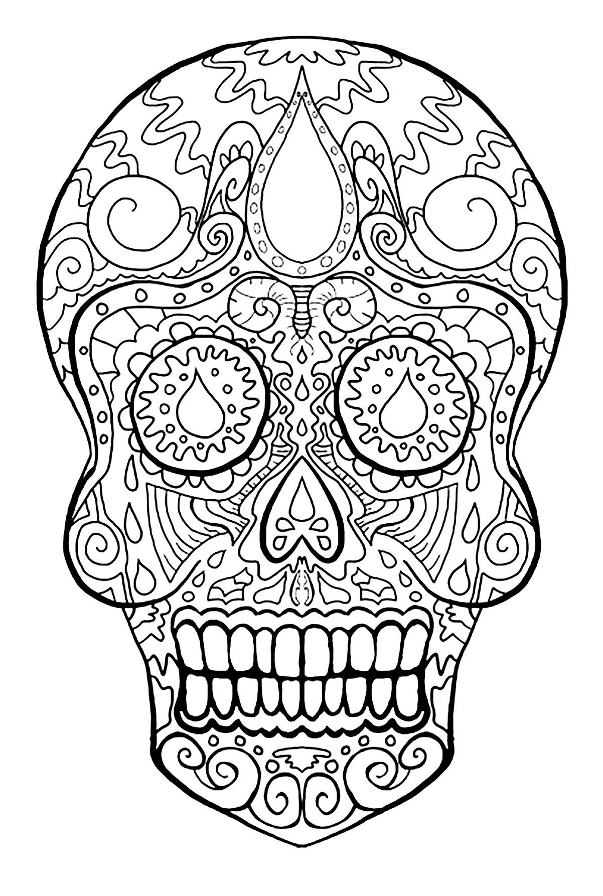 dia de los muertos coloring dia de los muertos free printable and coloring page to los coloring muertos dia de