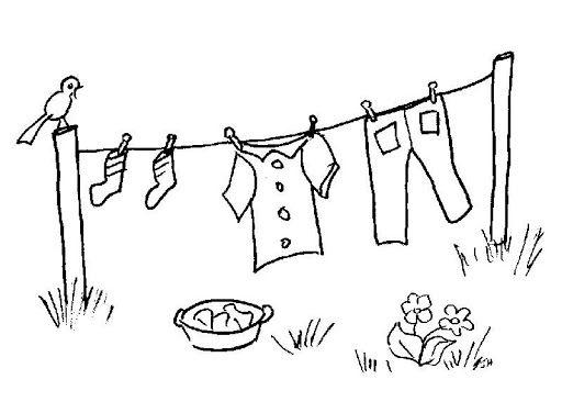 dibujos de ropa de bebe para colorear ilustración de ropa de bebé colgada en tendedero blanco y de colorear para ropa dibujos bebe de