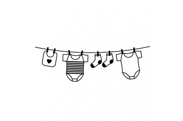 dibujos de ropa de bebe para colorear ropa de bebé dibujado a mano vector de stock colorear de para bebe dibujos ropa de