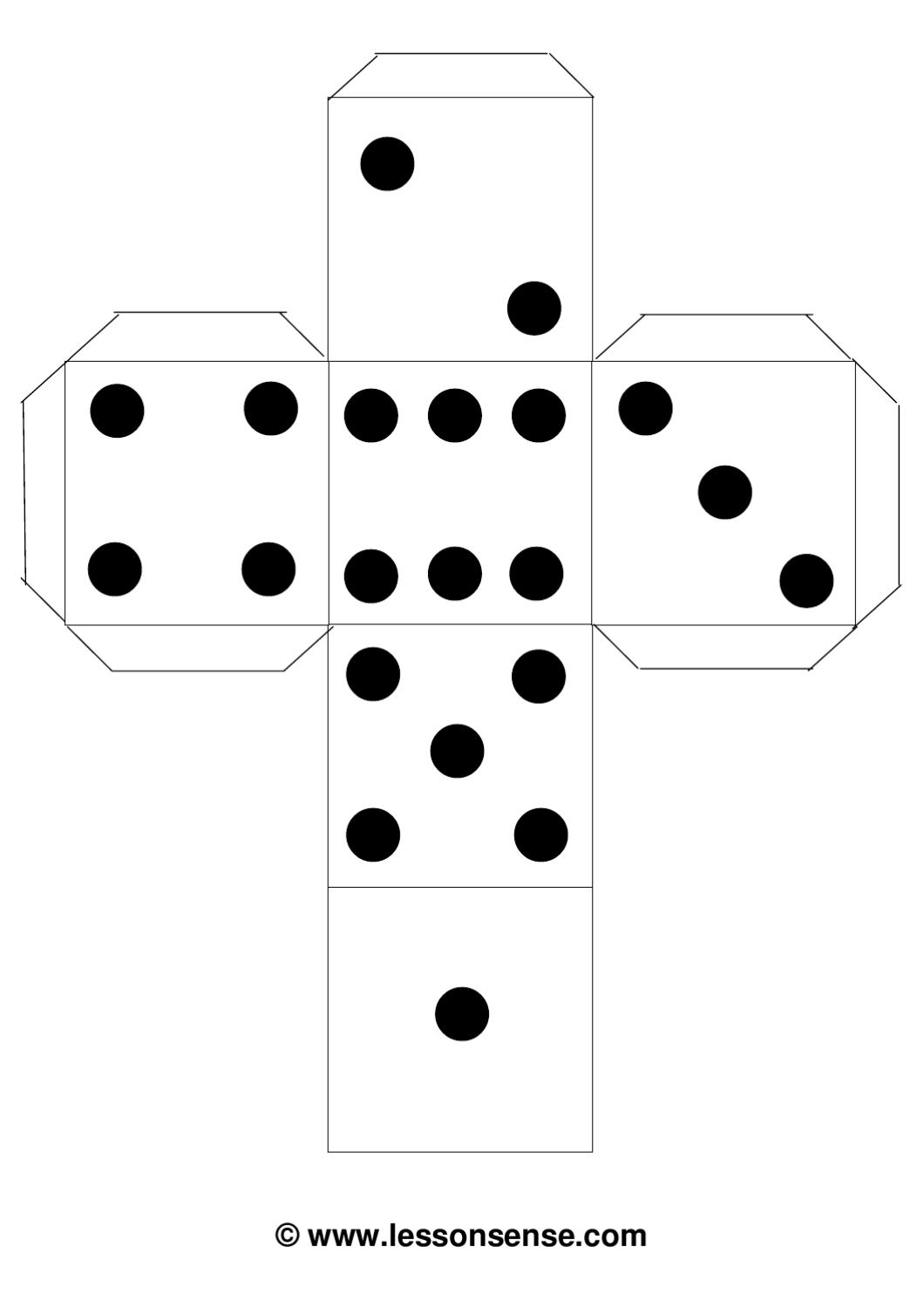 dice templates dice dots template by erin moore issuu dice templates