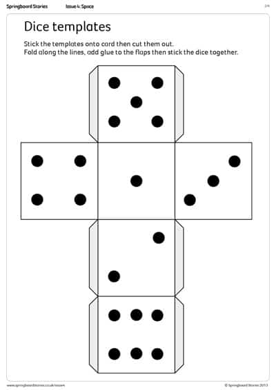 dice templates dice dots template by erin moore issuu templates dice