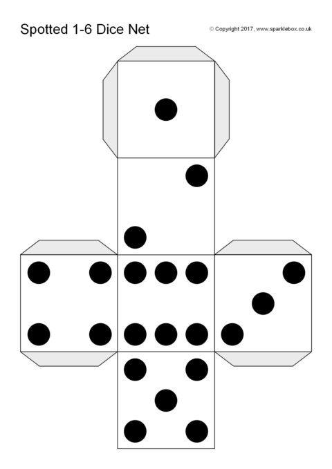 dice templates spotted dice template sb12186 sparklebox first grade dice templates