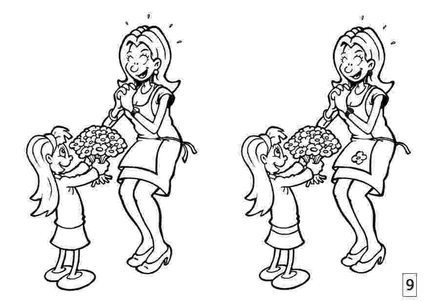 differences in picture coloring page spot the difference mother39s day img 21557 differences in picture