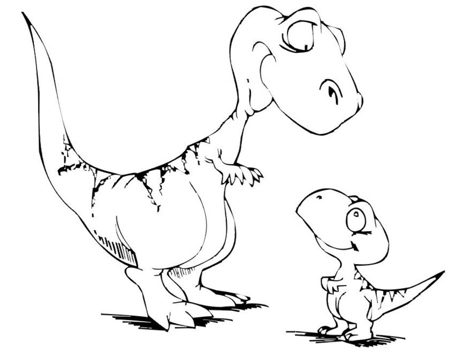 dino coloring page cute little dinosaur coloring page free printable coloring page dino
