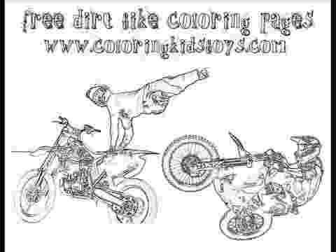 dirt bike images to color kawasaki motocross bike coloring page free printable dirt images to bike color