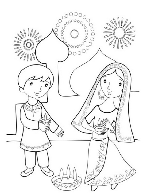 diwali coloring pages diwali colouring pages family holidaynetguide to coloring diwali pages