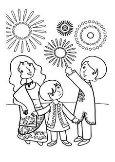 diwali coloring pages diwali colouring pages family holidaynetguide to pages coloring diwali 1 1