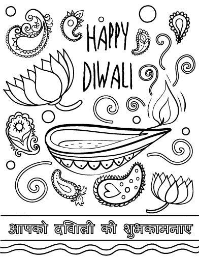 diwali coloring pages happy diwali coloring pages getcoloringpagescom diwali coloring pages