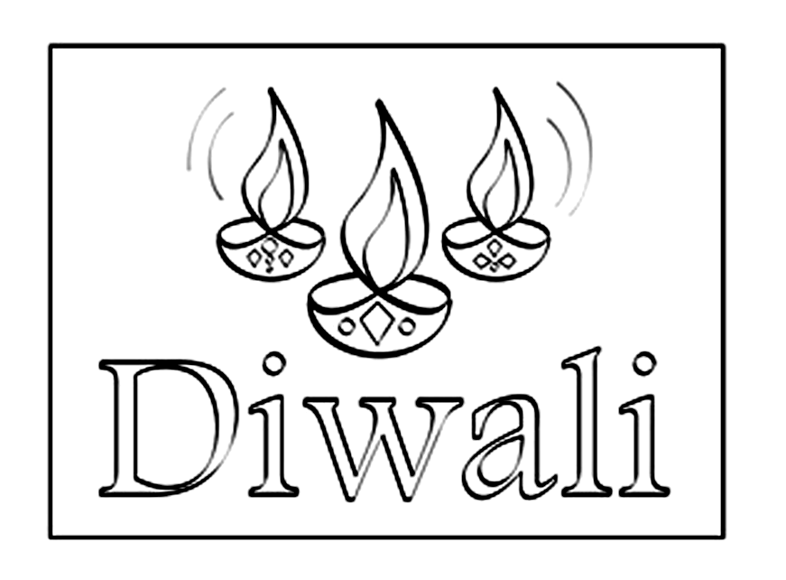 diya pictures to colour diwali coloring pages pitara kids network colour pictures diya to