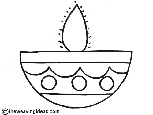 diya pictures to colour the best free diyas drawing images download from 5 free to diya colour pictures