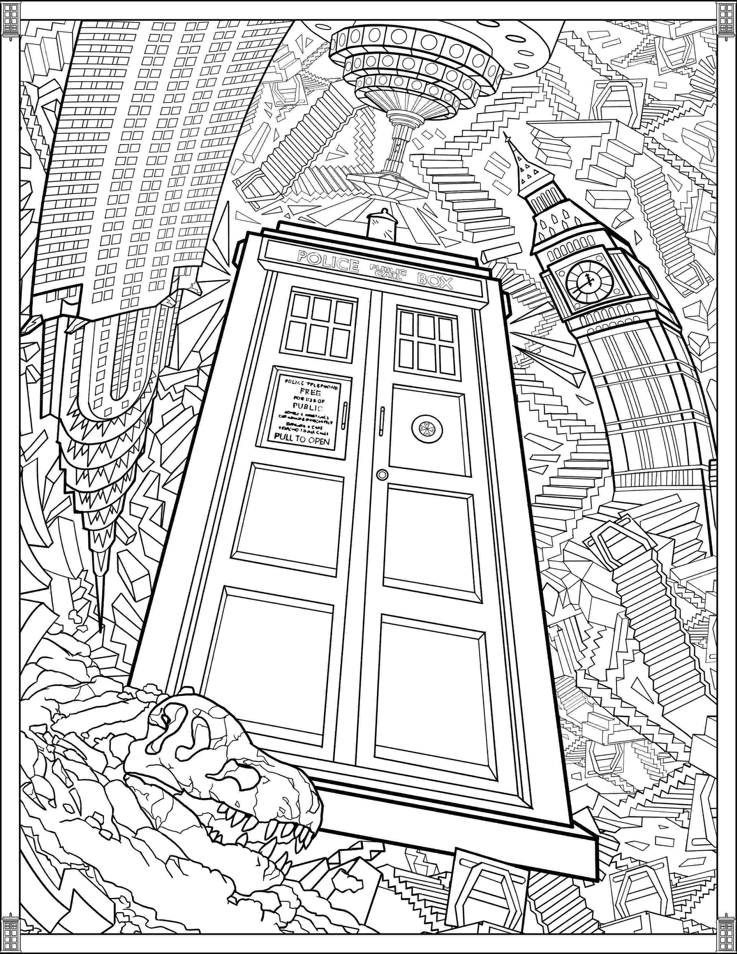 doctor who tardis coloring pages doctor who tardis fun crafts pinterest tardis adult doctor coloring pages who tardis