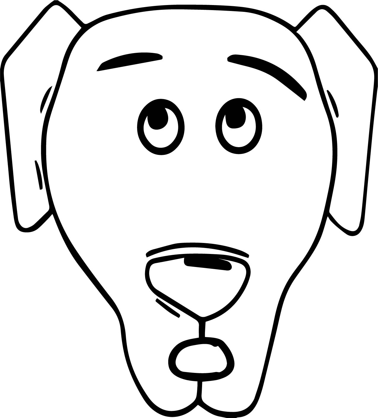 dog face coloring pages a dog face coloring page wecoloringpagecom dog pages face coloring