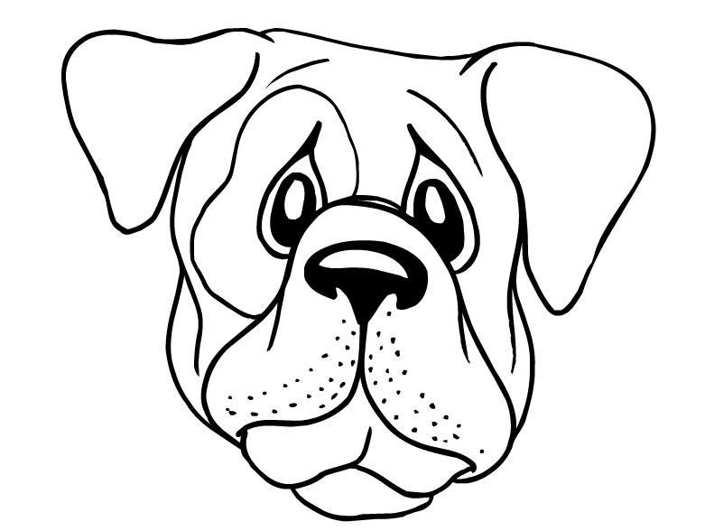 dog face coloring pages bulldog puppy face coloring page free pet parade pages coloring dog face