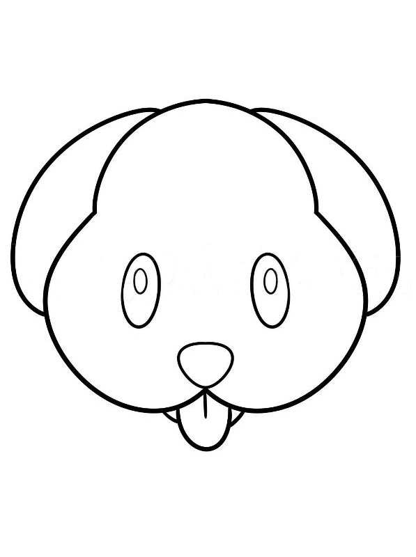 dog face coloring pages emoji coloring pages on to the color coloring pages dog face coloring pages