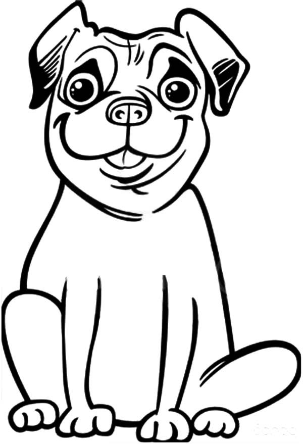 dog face coloring pages pug coloring pages getcoloringpagescom coloring dog face pages