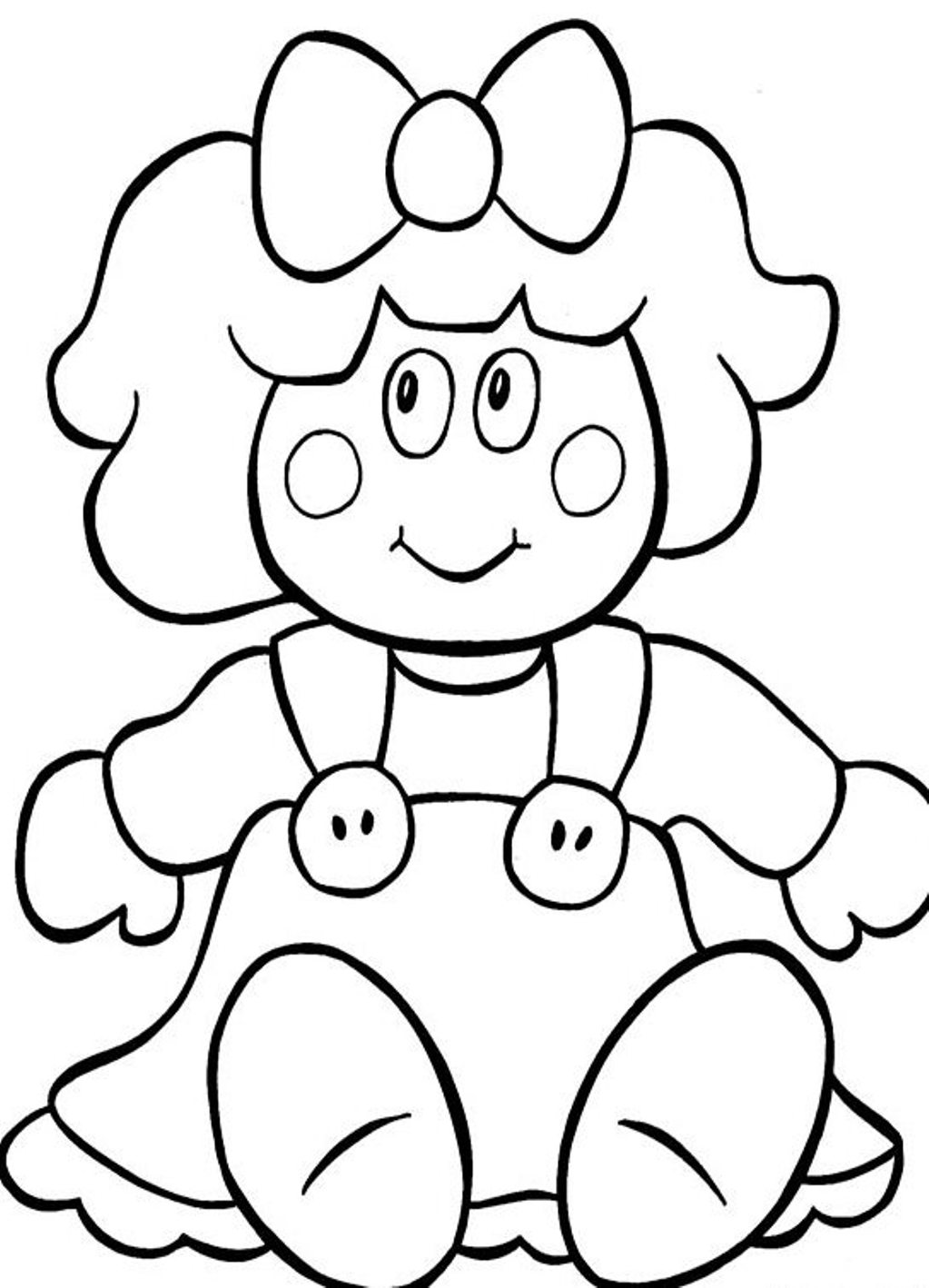 doll coloring page doll coloring pages getcoloringpagescom coloring doll page