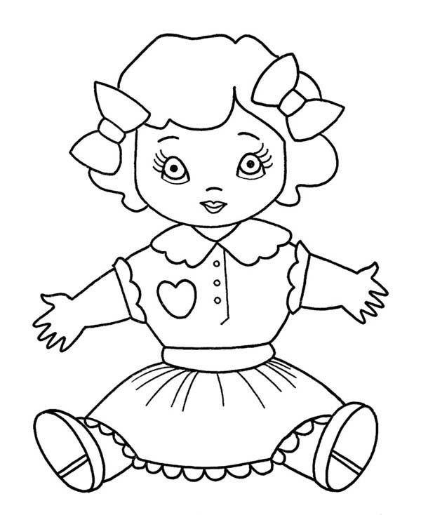 doll coloring page doll coloring pages hellokidscom page doll coloring