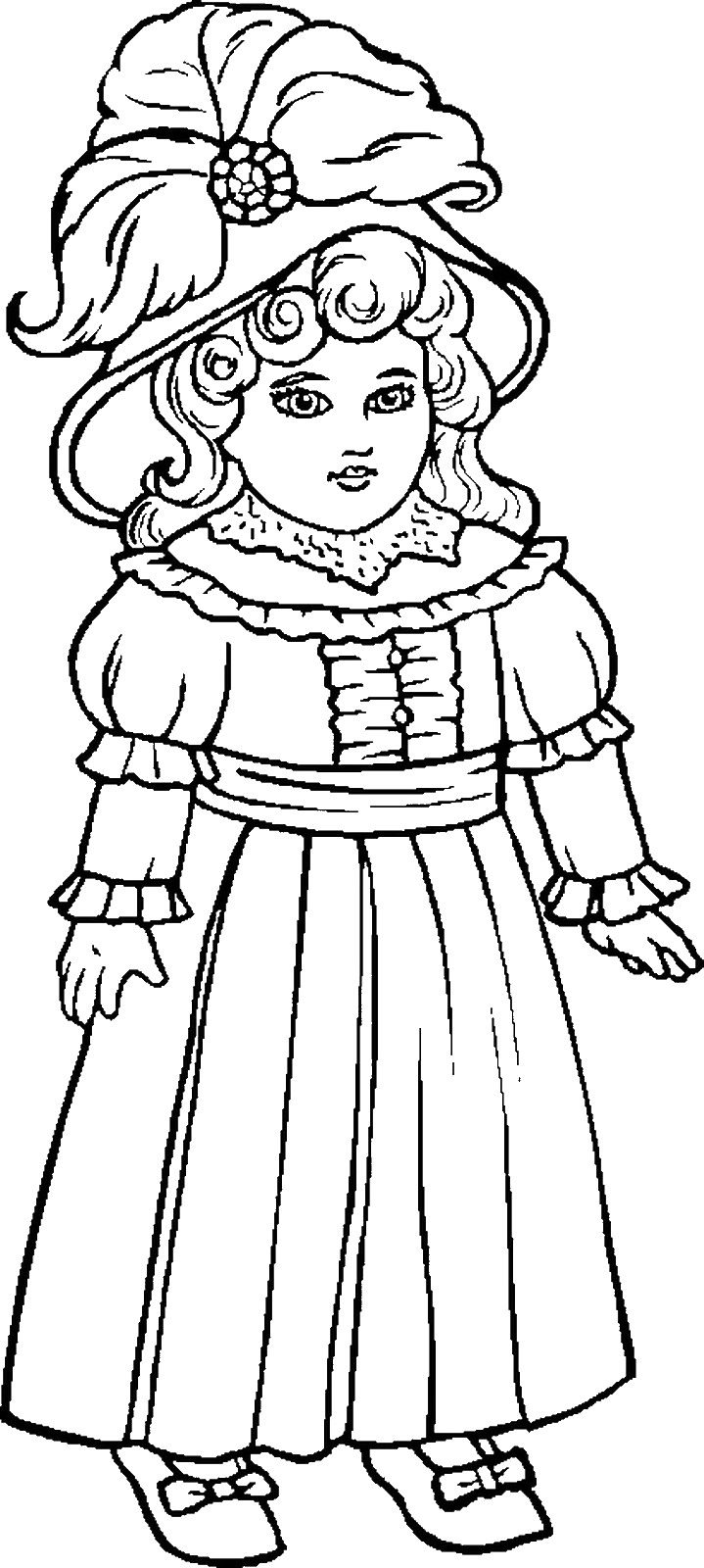 doll coloring page doll colouring page coloring doll page