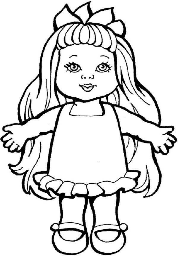 doll coloring page dolls coloring pages page doll coloring