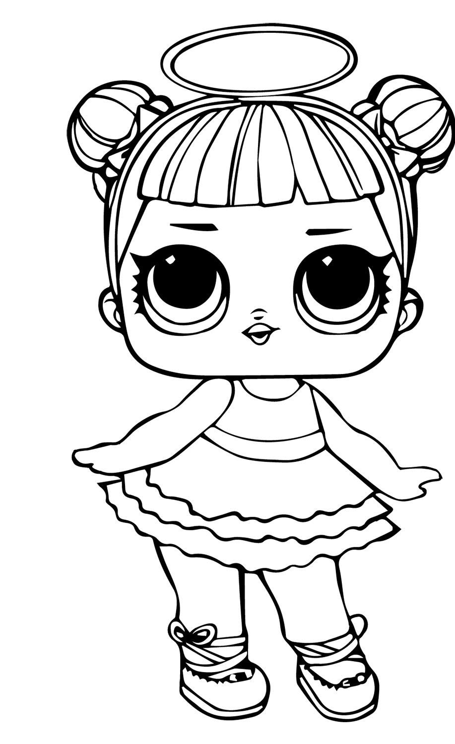 doll coloring page little lids siobhan lol doll colouring pages doll coloring page