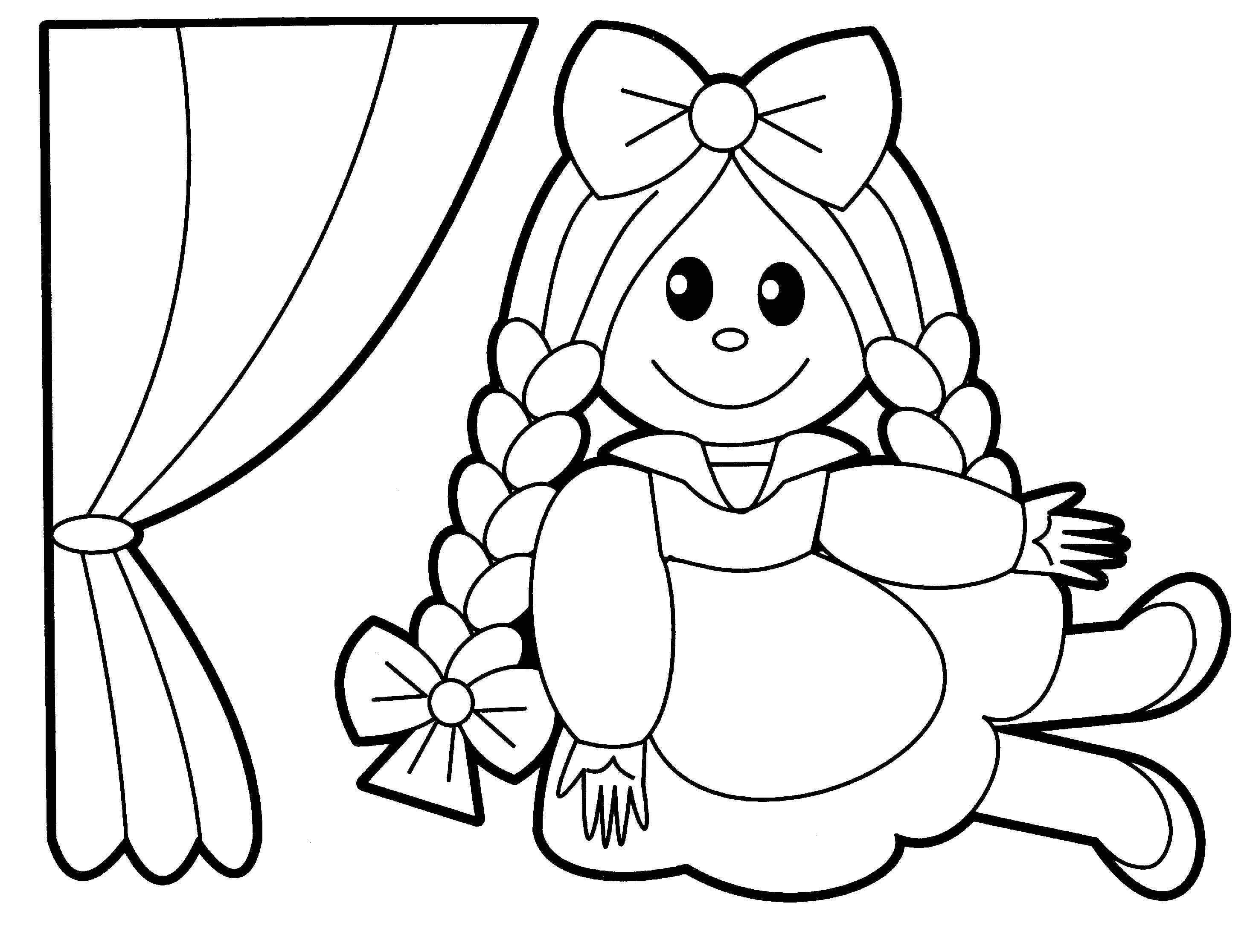 doll coloring page toys coloring pages best coloring pages for kids doll coloring page
