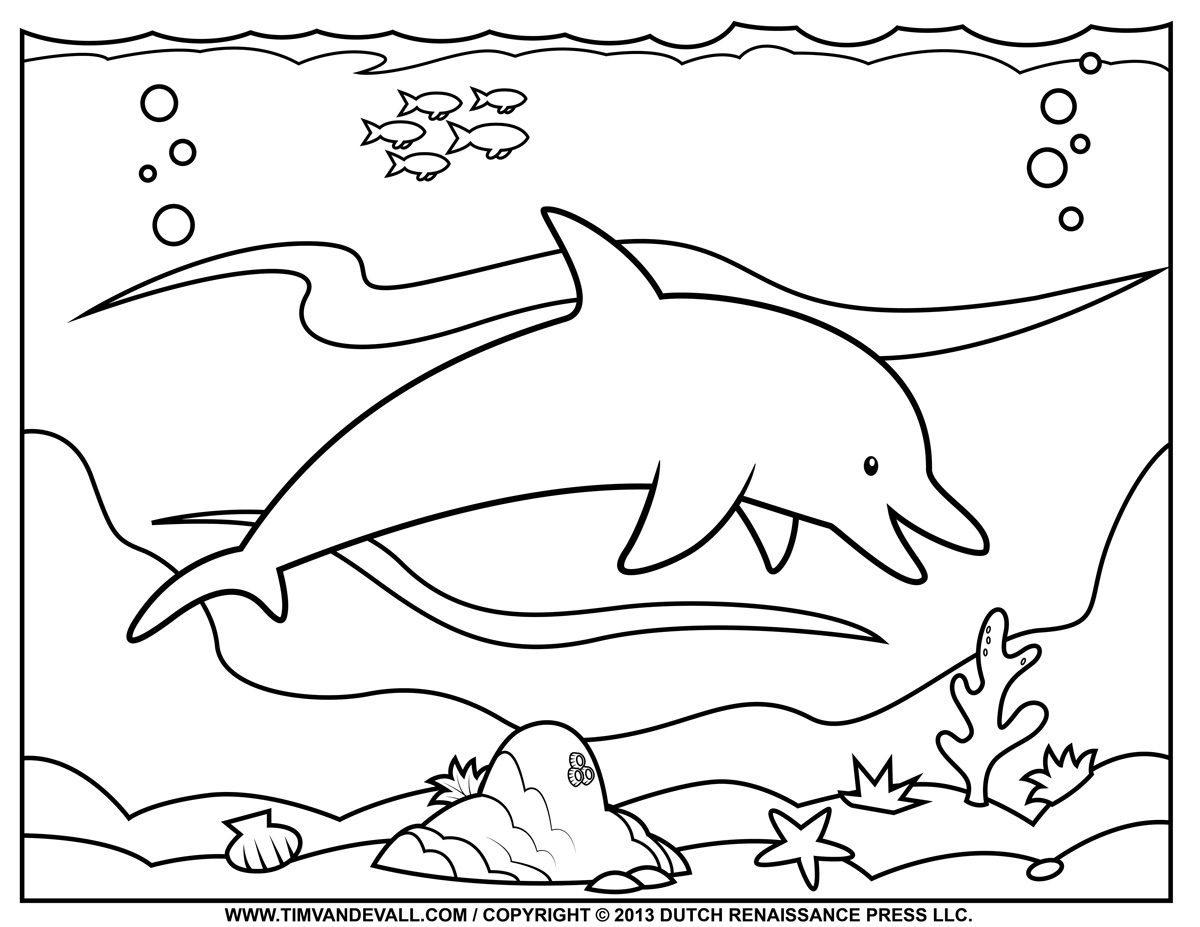 dolphin coloring page animal coloring pages momjunction coloring dolphin page