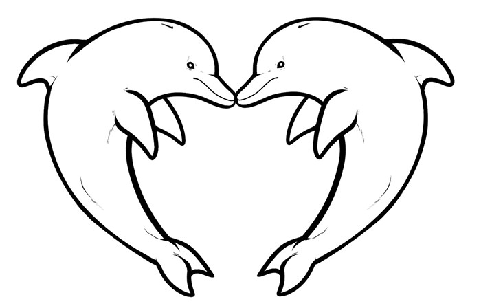 dolphin coloring page dolphin template animal templates free premium templates page dolphin coloring 1 1