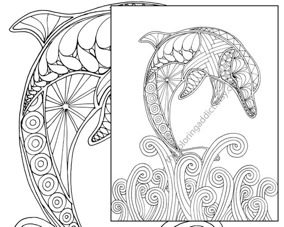 dolphin coloring printables christmas dolphins coloring page adult coloring beach color printables dolphin coloring