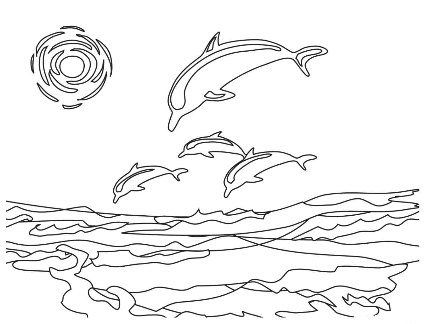 dolphin printable coloring pages animal coloring pages momjunction coloring pages dolphin printable