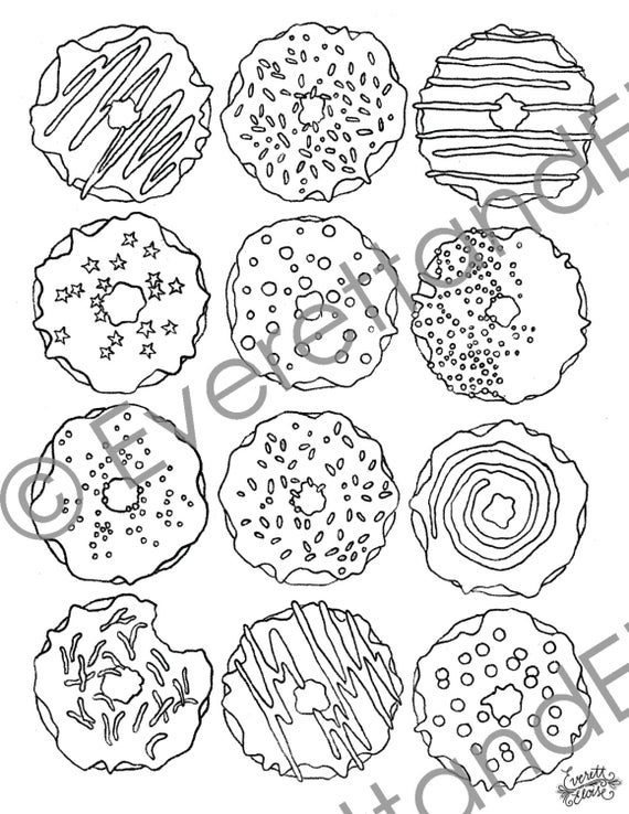 donut coloring page dippy donut coloring pages printable donut coloring page