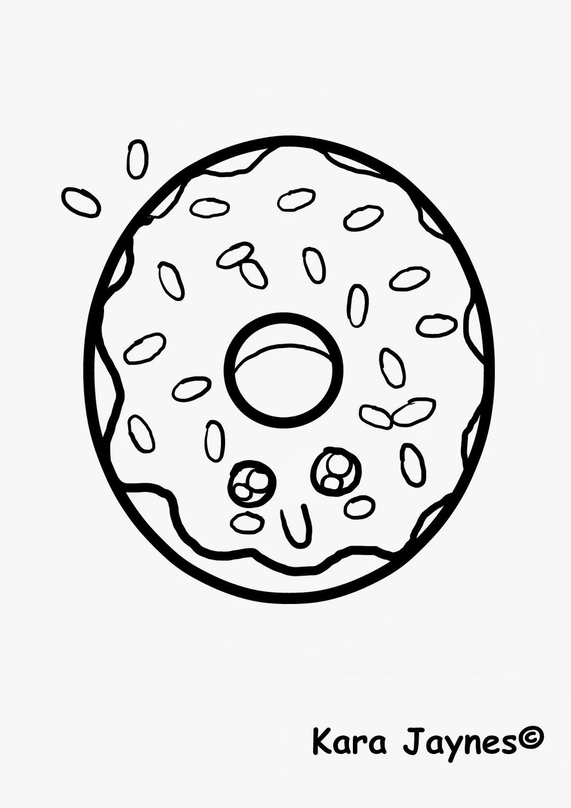 donut coloring page kara jaynes kawaii donut coloring page donut coloring page