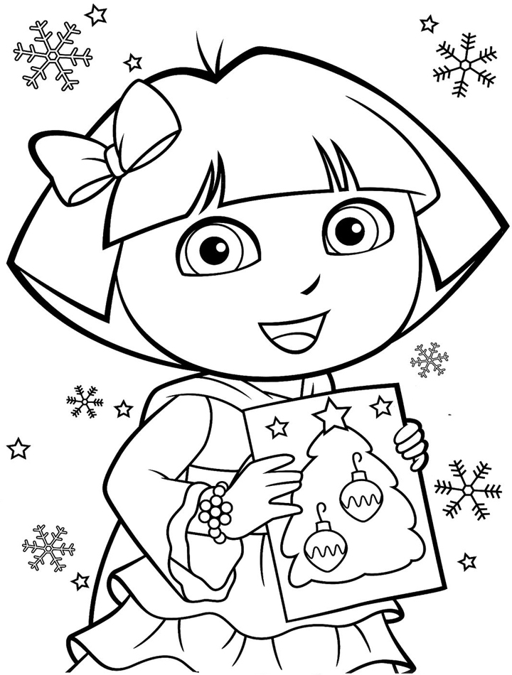 dora coloring page dora coloring pages free printables momjunction dora page coloring