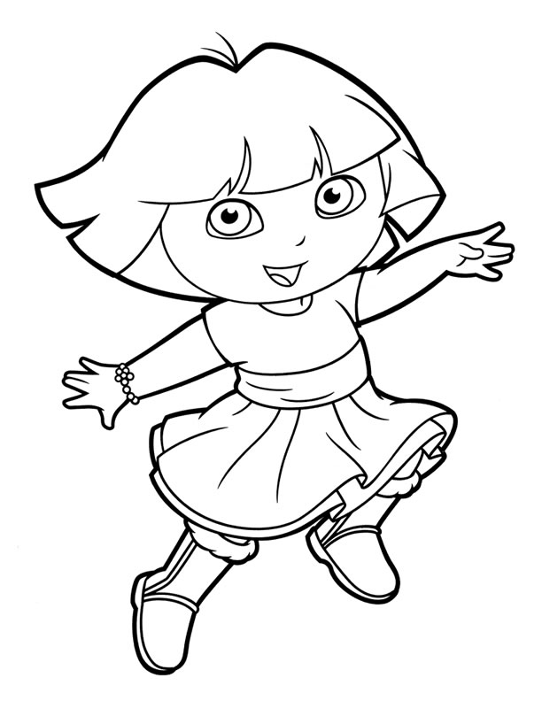 dora coloring page dora the explorer coloring pages team colors dora coloring page