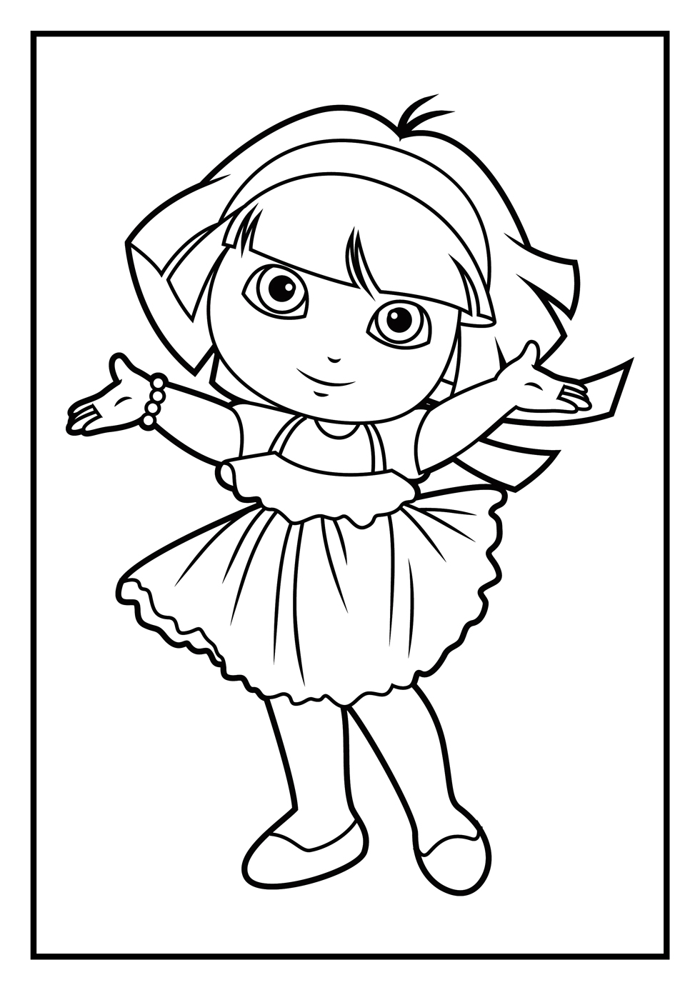 dora coloring page print download dora coloring pages to learn new things dora coloring page