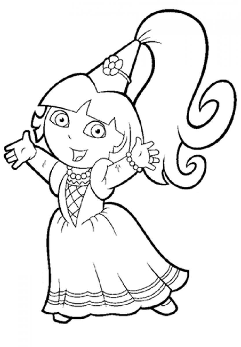 dora printable coloring pages free dora drawing at getdrawingscom free for personal use printable free pages coloring dora