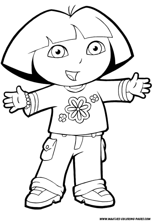dora printable coloring pages free dora the explorer birthday cake birthday party decorations pages free dora coloring printable